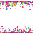 white background with colour drops vector image vector image