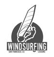windsurfing badge logo design elements vector image vector image