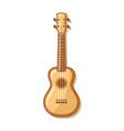 wooden ukulele with traditional ornaments vector image vector image