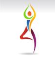 Yoga Pose 2 Logo vector image vector image