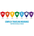 Complex traveling insurance design concept vector image