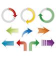 Set of colorful arrow symbols vector image