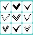 ticks set vector image