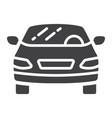 car glyph icon transport and automobile sedan vector image