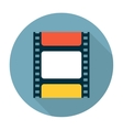 Film strip flat icon vector image