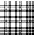 abstract check pixel plaid seamless pattern black vector image vector image