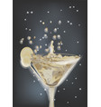 abstract cocktail and night sky vector image vector image