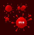 Abstract red blood drops vector image