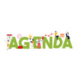 agenda letters concept business