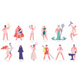 ancient olympic gods greek gods and goddesses vector image