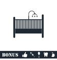 baby crib icon flat