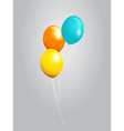 Balloons 3D over gray background vector image vector image