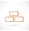 bricks grunge icon vector image vector image