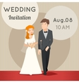 Bride and groom template wedding vector image vector image