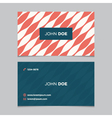 business card pattern red 09 vector image vector image