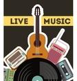 cassette vinyl guitar radio gramaphone icon vector image vector image