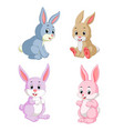 collection of the rabbits vector image vector image