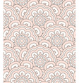 Creamy shell seamless pattern vector image vector image