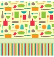 Cute colorful menu template vector image vector image