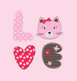 cute with cat vector image