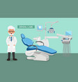 dental room vector image vector image
