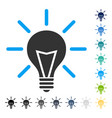 electric light icon vector image