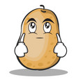 eye roll potato character cartoon style vector image vector image