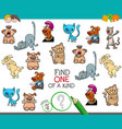 find one picture of a kind cartoon game vector image vector image