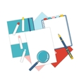 Flat design stationery vector image vector image