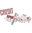 four credit repair tips text background word vector image vector image