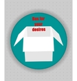 Gift box icon in blue circle vector image