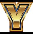 Golden Font Letter Y vector image