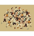 Group people sport moving run together vector image vector image