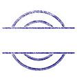 grunge textured circle stamp frame vector image