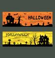 halloween banners design vector image vector image