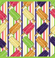 hand drawn popsicle ice cream set vector image