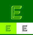 impossible letter e elegant consist thin lines vector image