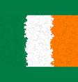 ireland flag of many green white yellow shamrock vector image vector image