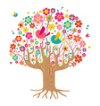 Isolated spring time tree vector image vector image