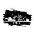 italy city skyline silhouette hand drawn sketch vector image vector image