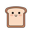Kawaii slice bread funny cartoon