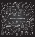 kitchen and cooking vector image vector image