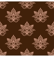 Light and dark brown persian paisley seamless vector image vector image