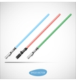Light Saber - Futuristic Energy Weapon vector image