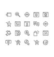 line seo icons vector image vector image