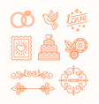 linear design elements for wedding invitations vector image vector image
