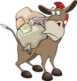 little burro Cartoon vector image