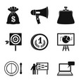 lot of money icons set simple style vector image vector image