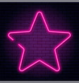 neon sign in star shape bright neon light vector image vector image