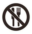 no eating allowed vector image vector image